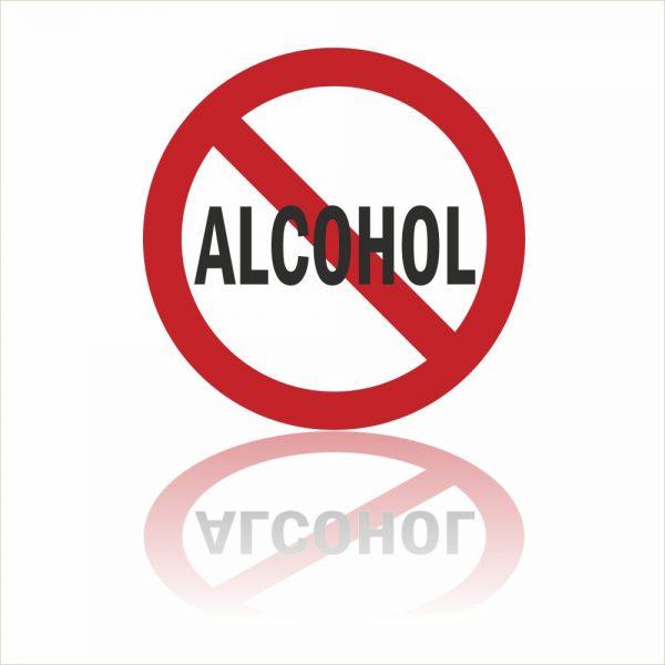 Alcohol verbod sticker