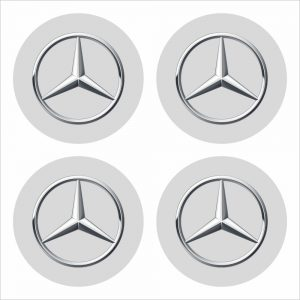 Wielnaaf stickers Mercedes