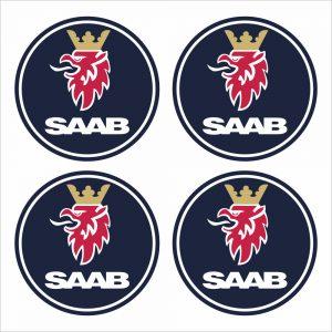 Wielnaaf stickers Saab