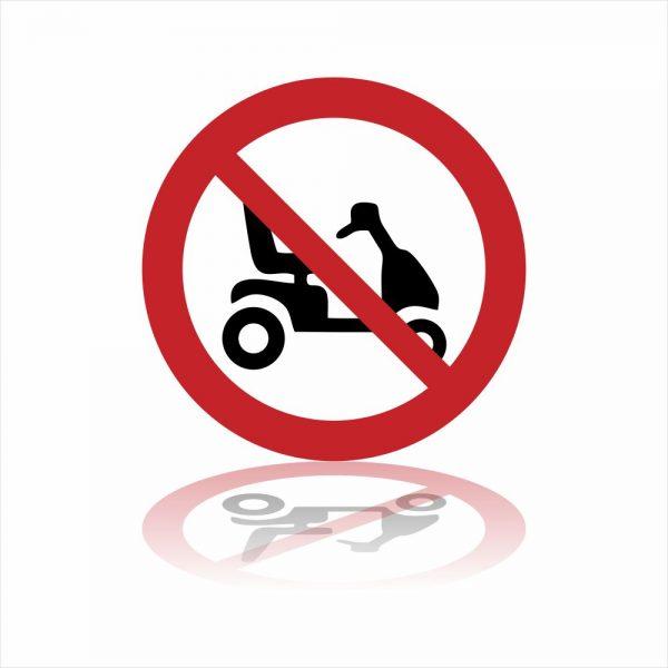 Pictogram Verboden voor Scootmobielen