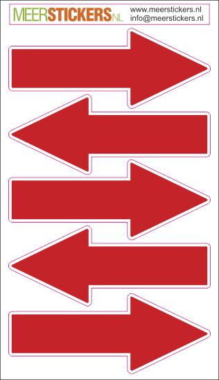 pijl stickers leidingen rood