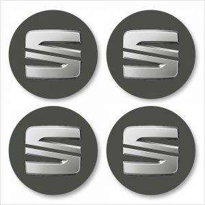 Wielnaaf stickers Seat antraciet