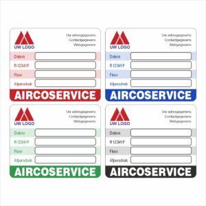 Onderhoud stickers Aircoservice R1234YF