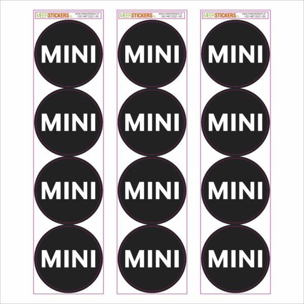 Wielnaaf stickers mini zwart