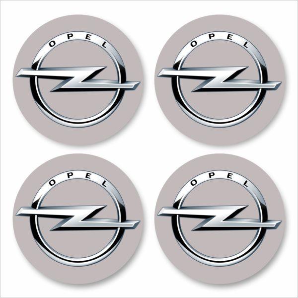 Wielnaaf stickers Opel Grijs